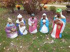 NEW LARGE 5 PIECE GENERAL FOAM LIGHTED BLOWMOLD NATIVITY SET 25 TO 36