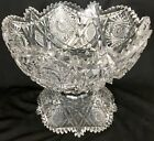 Antique Libbey ABP Cut Glass Punch Bowl  Base Somerset Pattern I think
