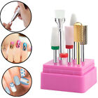 7Pcs/Set Ceramic Nail Art Drill Bits Gel Removal Electric Manicure Rotary Burr
