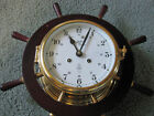 SCHATZ MARINER 8 Day Ships Wheel CLOCK Made in WEST GERMANY No Key As Found