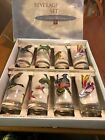 Federal Glass Company Set of 8 Wild Bird Collection in original box