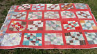 1930s all hand quilted cotton patchwork  quilt, 77