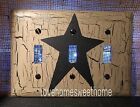 Black Star Triple Light Switch Plate ~ Country Decor