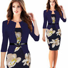 Sexy Women Business Office Work Formal Party Belt Bodycon Sheath Pencil Dresses