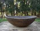 Extra Large Primitive Farm House Old Wood Butter / Dough Bowl