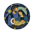 ORIGAMI OWL Large Stained Glass Nativity Window Plate