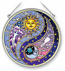 AMIA STAINED GLASS SUNCATCHER YIN YANG SUN  MOON 65 ROUND 5320