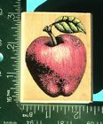 APPLE Rubber Stamp by Rubber Stampede Fruit