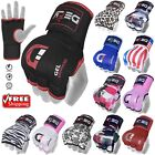 DEFY Gel Padded Inner Gloves with Hand Wraps MMA Muay Thai Boxing Fight PAIR