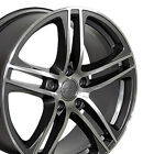 18 Gunmetal Wheels SET of 4 Fit Audi A3 A4 A5 A6 A8 R8 Style