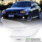 New Left+Right BMW E60 E61 5 Series Replacement Headligt Cover Headlamps Lens