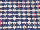 1880s INDIGO BLUE BOW TIE QUILT BOLD GRAPHICS EARLY EXAMPLE
