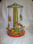 Vintage 1952 Chein RIDE A ROCKET Tin Litho Wind up Toy