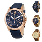 Fossil Grant 2 Chronograph Leather Men's Watch