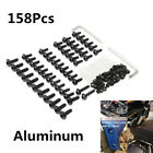 158X Sportbike Windshield Fairing Bolts Nuts Screw Black For Yamaha Honda Suzuki