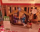 Christmas Airblown Inflatable Light Show Nativity Scene Lighted 8 Ft Wide