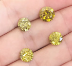 4.60CT YELLOW SAPPHIRE HEATED ROUND CUT FENACITE CUBIC ZIRCONIA NO RUBY EMERALD