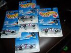 5 LOT HOT WHEELS 1997  618 STOCKER WHITE NASCAR HUFFMAN MONTE CARLO CHEVY CARS