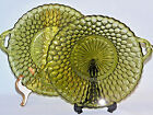VINTAGE PRESSED GLASS HONEY COMB PATTERN CANDY/NUT DISH SET OF 2