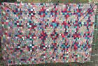 Antique Vintage 1930s Quilt Top ~ Pattern Name? Hand Pieced 87x87