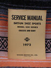 Datsun 240Z Sports Car Model S30 Series Chassis & Body Service Manual 1972