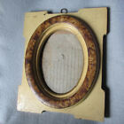 Antique c1880 Folk Art Picture Frame with Grain Painted Finish, Cottage Mirror