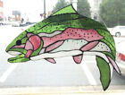 Trout Fish Stained Glass Suncatcher Window