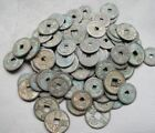 Collect Chinese 50pcs Bronze Coin China Old Dynasty Antique Currency Cash