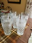6 WEXFORD Glass Iced Tea Water Glasses Ice Anchor Hocking Diamond 16 oz Tumblers