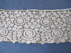 leaves tulle dark beige lace trim    1 yard