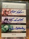 Billy Kilmer Fran Tarkenton Herb Adderley 2005 Upper Deck Rookie Deb Auto 05 10