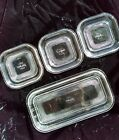 Fire King Lids for Jadeite Refrigerator Box Dishes Vintage Set of Four 8