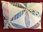 Primitive Antique Quilt Pillow~OOAK Patchwork Farmhouse, Cottage Chic, Colorful