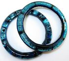 2 BANGLE BRACELETS Art Glass Dichroic Fused Handcrafted Signed FREE Gift Box