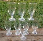 SET of 8 Anchor Hocking Crystal Boopie Clear Glass FTD ICED TEA TUMBLERS GLASSES
