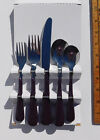 New in Box Genuine Fiesta Flatware 5 Pc Place Setting Plum Stainless Steel