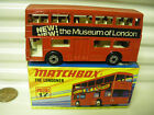 Lesney Matchbox MB17B 1972 MUSEUM OF LONDON Red The LONDONER Bus UnPainted Base
