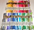 DMC FLOSS CROSS STITCH THREAD 6 STRAND ALL COTTON 50 ALL DIFFERENT - 8 CHOICES