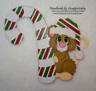 Christmas mouse candy cane Premade Paper piecing set by scrappintoday