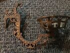 VINTAGE CAST METAL SWING Lamp ARM CANDLE OIL WALL  HOLDER SCONCE