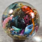 MINT BIG COLORFUL CONTEMPORARY MARBLE w/ LUTZ Signed DOUGLAS SWEET 1 19/32