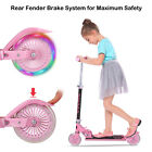 3 Wheel Kick Scooter For Kids 2 12 Ages with LED Rear Lights Wheels Boy