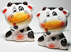 COW SALT  PEPPER SHAKERS CERAMIC SET KITCHEN DECOR WHIMSICAL GIFT FACE FUNNY