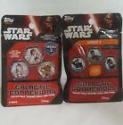 Topps Star Wars Galactic Connexions 1 Series 2 & 1 series 3 pack of 5 coins each