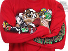 Harley Davidson Looney Tunes Mens Taz Claus Red Long Sleeve Holiday T Shirt