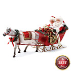 Dept 56 Possible Dreams 2018 ONE HORSE OPEN SLEIGH SANTA  MRS CLAUS 6000717