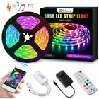 164FT 5M 5050 RGB Light Strips Work with APP Color Changing for TV Room Kitchen