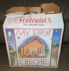 Fontanini My First Creche Nativity Set 5 Figurines  Stable By Roman Inc Rare