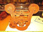 OLD ANTIQUE  HAY BARN ROPE TROLLEY  LOUDEN JUNIOR  CABLE TYPE