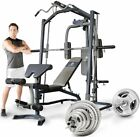 Marcy MP3100 Smith Machine Multi Gym with 140kg Olympic Weight Plate Set